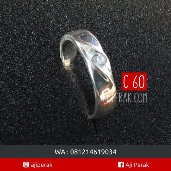 cincin perak single C60