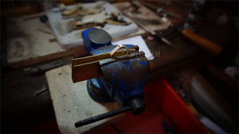 Cincin Perak Custom Bentuk Kotak